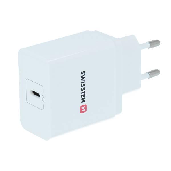 Swissten Φορτιστής ταξιδίου Power delivery USB-C 18W ισχύος-1
