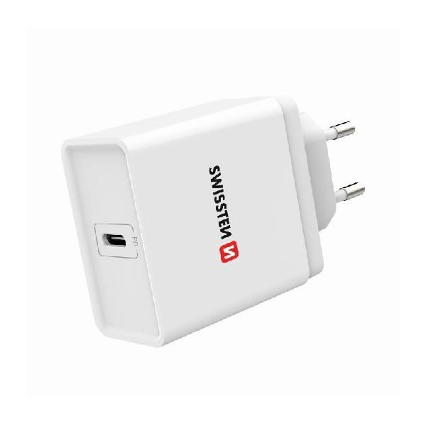 Swissten Φορτιστής ταξιδίου Power delivery USB-C 18W ισχύος-2