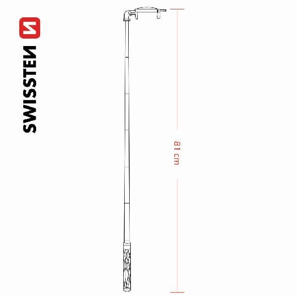 Swissten ενσύρματο Selfie Stick-6